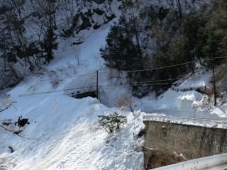 秩父市(旧大滝村)大雪による道路状況調査(3)